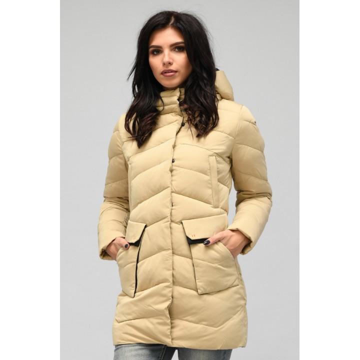 Куртка зимняя женская 018 (песок)