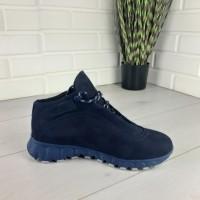 Мужские ботинки зимние из натуральной замши, внутри натуральная шерсть.