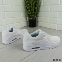 """Кроссовки мужские, белые в стиле """"Nike Air"""" эко кожа + текстиль, мокасины мужские, кеды мужские, обувь мужская"""