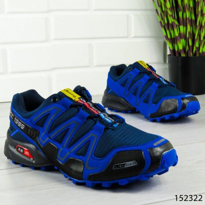 """Кроссовки мужские, синие """"Daven"""" эко кожа + текстиль, мокасины мужские, кеды мужские, обувь мужская"""