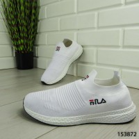 """Кроссовки мужские, белые в стиле """"FILA"""" текстильные, мокасины мужские, кеды мужские, обувь мужская"""