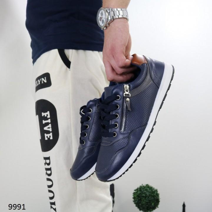 Мужские кроссовки темно синие 9991