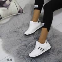 Женские кроссовки белые 4535