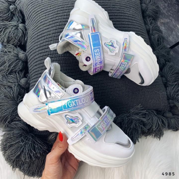Женские кроссовки белые 4985