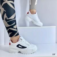 Женские кроссовки белые 237