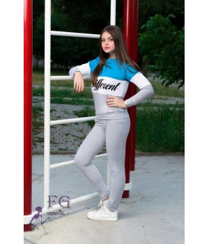 "Спортивный костюм ""Different""| Распродажа| Распродажа голубой, 42 #A/S"